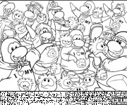 Coloriage Club Penguin en couleur