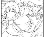 Coloriage et dessins gratuit Club Penguin et L'aventure à imprimer