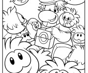 Coloriage Club Penguin Feuille de coloriage