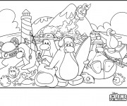 Coloriage Club Penguin humoristique