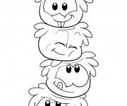 Coloriage et dessins gratuit Les Pingouins qui font rire à imprimer