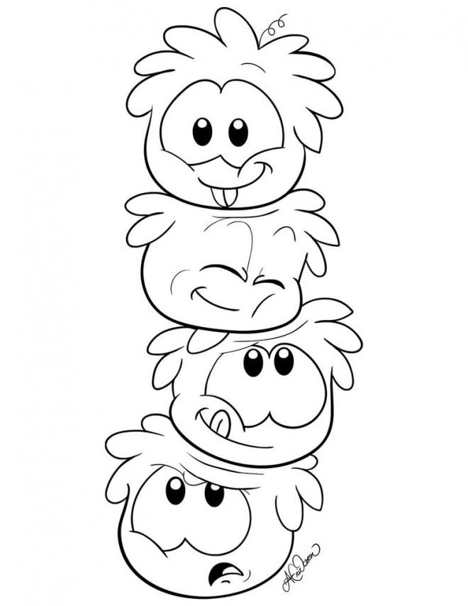 Coloriage et dessins gratuits Les Pingouins qui font rire à imprimer