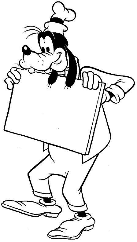 Coloriage et dessins gratuits Dingo tient un tableau à imprimer