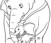 Coloriage Dumbo