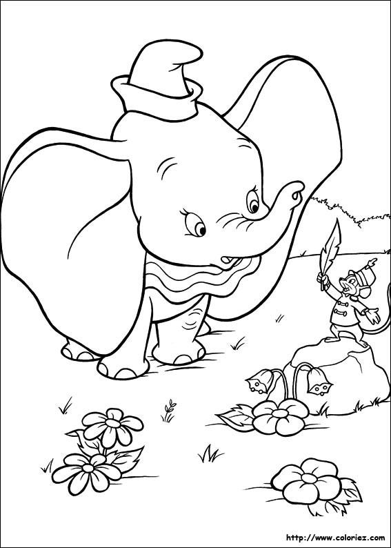 Coloriage et dessins gratuits Dumbo et Timothée à imprimer