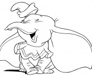 Coloriage Dumbo rit