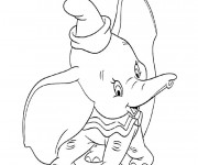 Coloriage Dumbo sourit