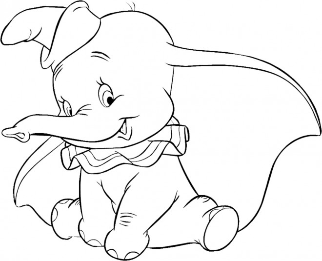 Coloriage et dessins gratuits Le petit Dumbo à imprimer