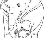 Coloriage Dumbo