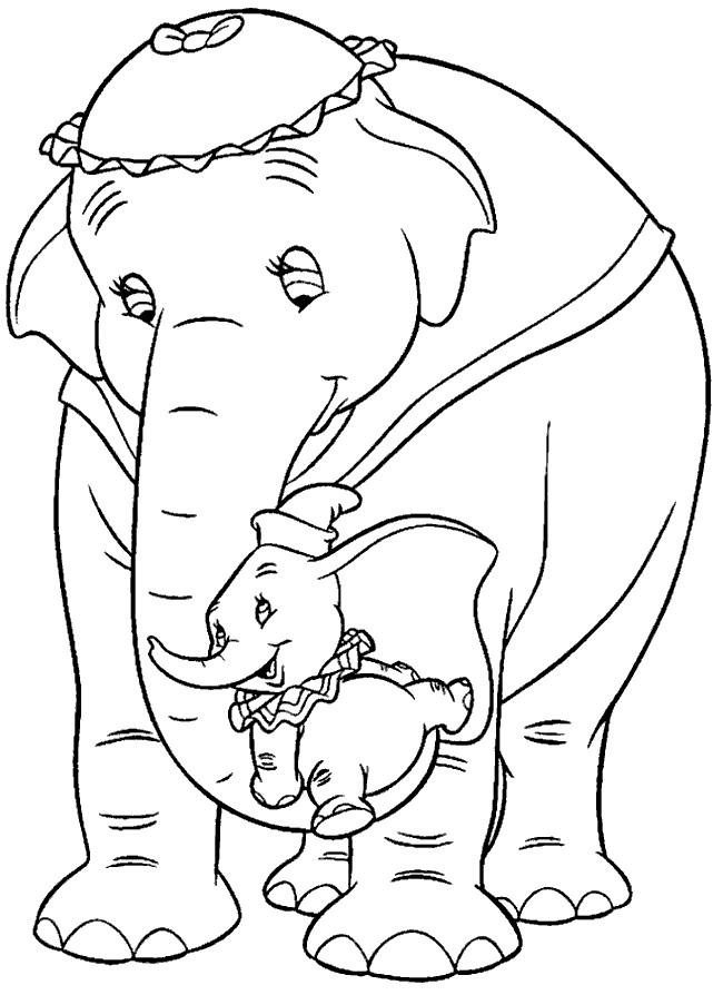 Coloriage et dessins gratuits Madame Jumbo et Dumbo à imprimer