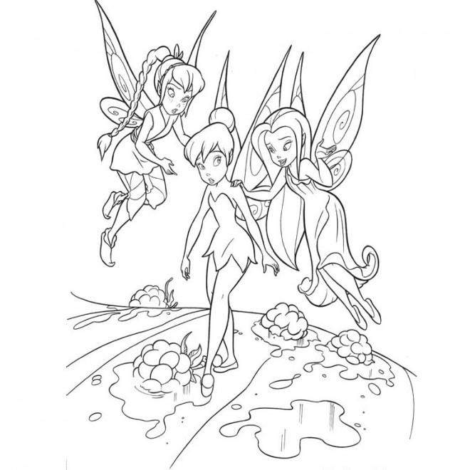 Coloriage et dessins gratuits Fee Clochette avec Noa et Ondine à imprimer
