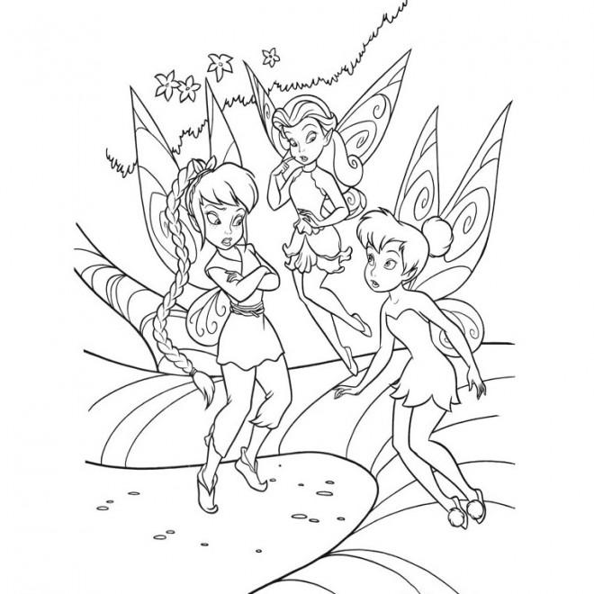 Coloriage et dessins gratuits Fée clochette avec ses amies à imprimer