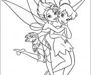 Coloriage et dessins gratuit Fee Clochette et son amie à imprimer
