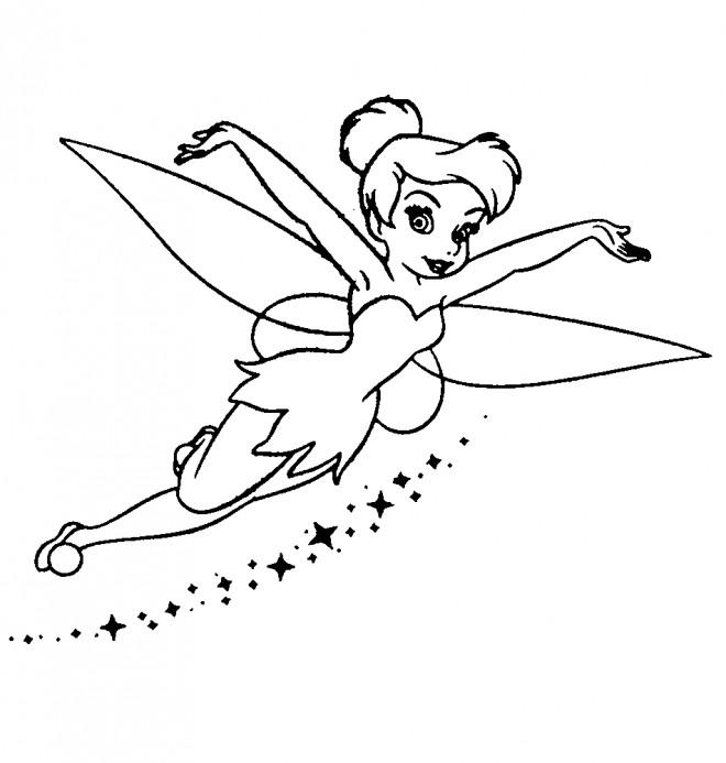 Coloriage et dessins gratuits Fee Clochette simple à imprimer