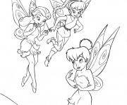 Coloriage et dessins gratuit Noa, Ondine et Clochette à imprimer