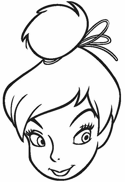 Coloriage et dessins gratuits visage simple Fée Clochette à imprimer