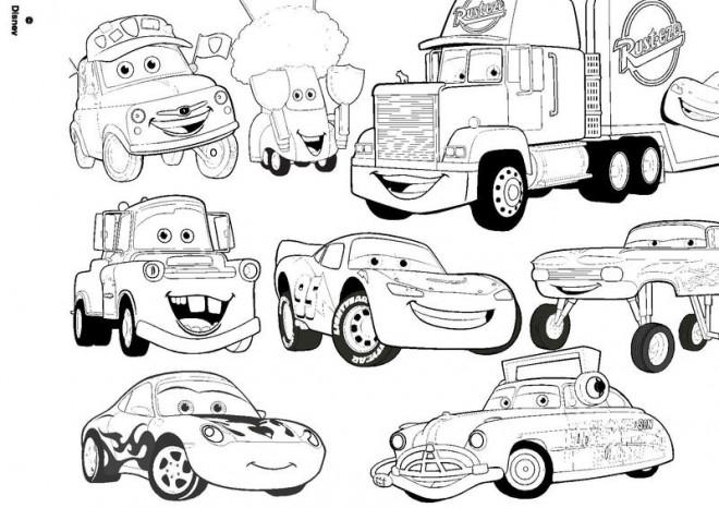 Coloriage flash mcqueen et sa bande dessin gratuit imprimer - Coloriage de cars gratuit ...
