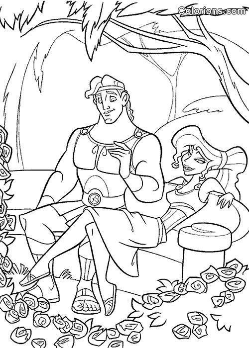 Coloriage et dessins gratuits Hercule 35 à imprimer