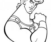 Coloriage et dessins gratuit Hercule avec ses géants muscles à imprimer