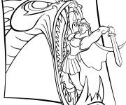 Coloriage Hercule combat le monstre