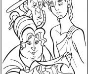 Coloriage Hercule dessin de Disney