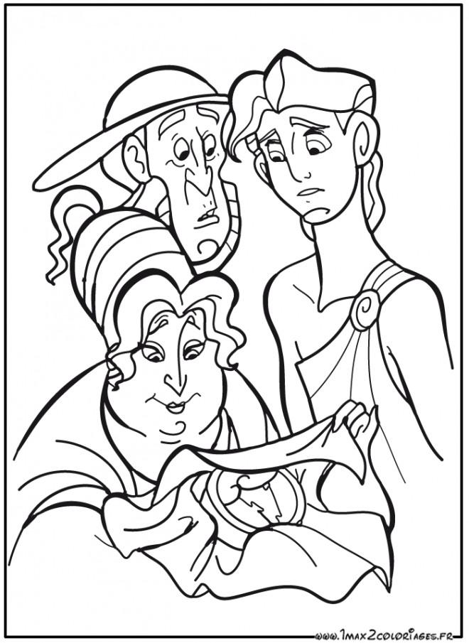 Coloriage et dessins gratuits Hercule dessin de Disney à imprimer
