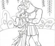 Coloriage et dessins gratuit Hercule et Megara dans la nature à imprimer