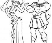 Coloriage et dessins gratuit Hercule et Megara disney à imprimer