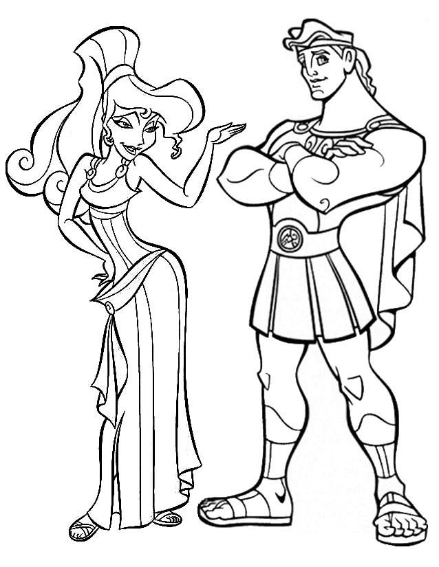 Coloriage et dessins gratuits Hercule et Megara disney à imprimer