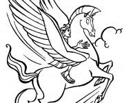 Coloriage et dessins gratuit Hercule et Pegace à imprimer