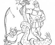 Coloriage et dessins gratuit Hercule et Phil ont attrapé un serpent à imprimer
