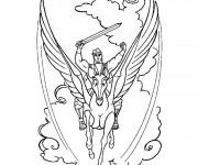 Coloriage et dessins gratuit Hercule et son cheval à imprimer