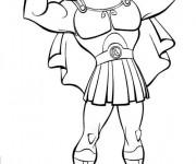 Coloriage Hercule montre ses muscles