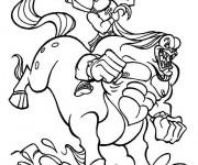 Coloriage et dessins gratuit Hercule se débat contre un monstre à imprimer