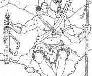 Coloriage et dessins gratuit Hercule se prépare pour un combat à imprimer