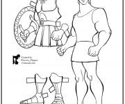 Coloriage L'armure d'Hercule