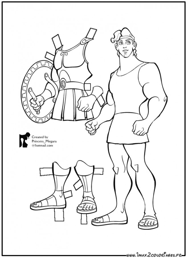 Coloriage et dessins gratuits L'armure d'Hercule à imprimer