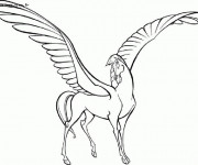 Coloriage et dessins gratuit Le cheval Pégace d'Hercule à imprimer