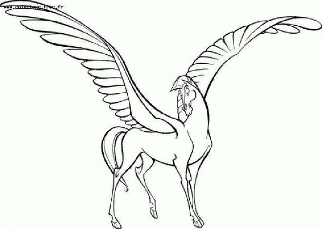 Coloriage et dessins gratuits Le cheval Pégace d'Hercule à imprimer