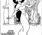 Coloriage et dessins gratuit Jasmine danse à imprimer
