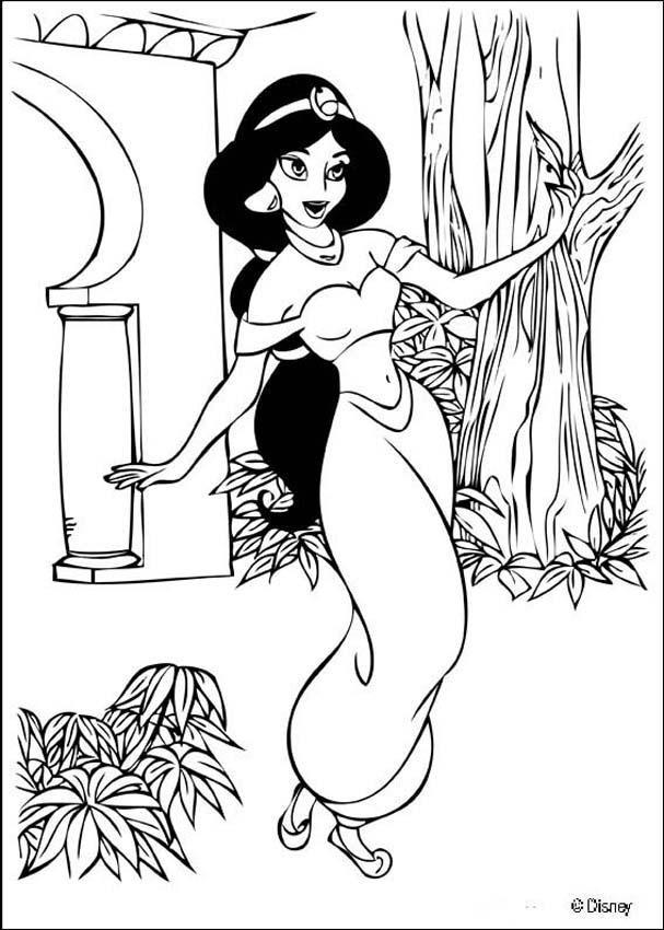 Coloriage et dessins gratuits Jasmine danse à imprimer