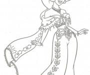 Coloriage et dessins gratuit La ravissante Jasmine à imprimer