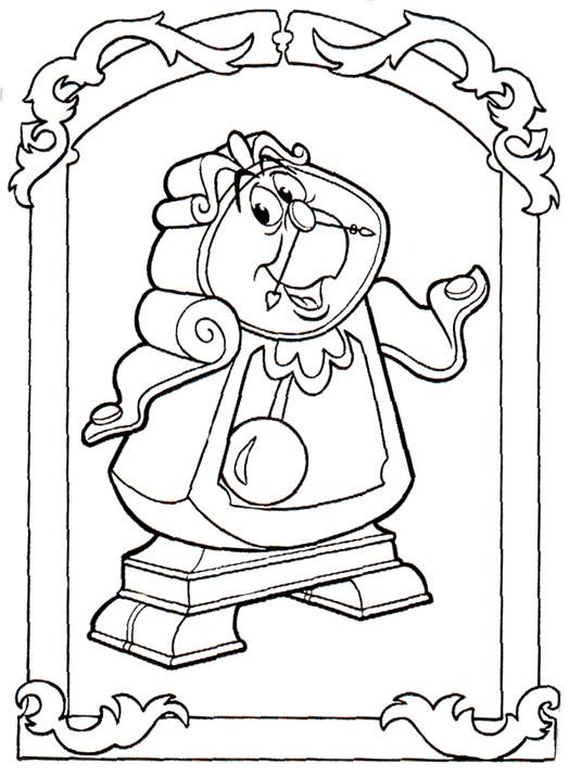 Coloriage et dessins gratuits Big Ben de La belle et la bête à imprimer