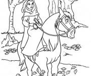 Coloriage et dessins gratuit La belle  en premenade à imprimer