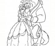 Coloriage et dessins gratuit La belle et la bête à imprimer