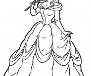 Coloriage et dessins gratuit La belle sent la ravissante odeur de la rose à imprimer