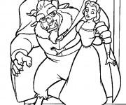 Coloriage La bête prépare une surprise à Belle