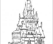 Coloriage Le chateau de La belle et la bête