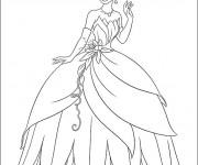 Coloriage La belle  princesse Tiana
