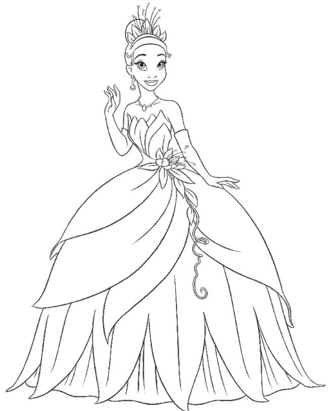 Coloriage et dessins gratuits La princesse et la grenouille 24 à imprimer